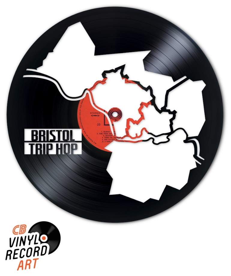 Bristol, UK, Trip Hop – Piece of Art on recycled vinyl record
