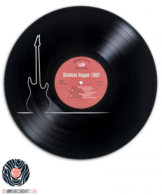 Thin Guitar - Œuvre et Sculpture sur disque vinyle