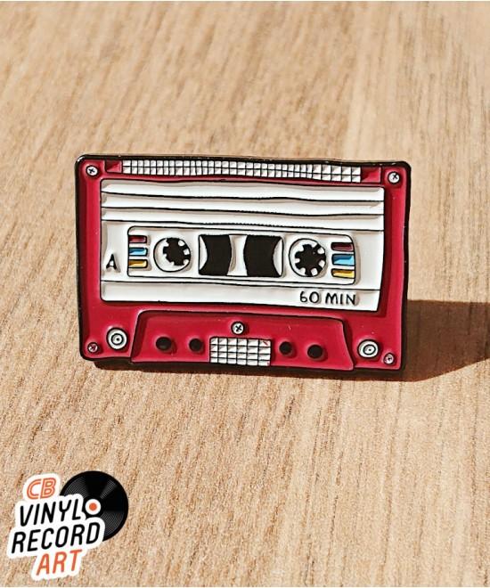 Pin's émail K7 audio 60min – Accessoire old school