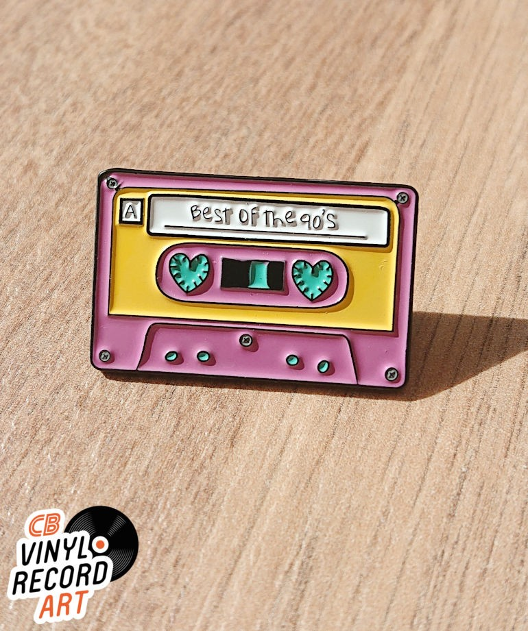 Cassette tape Best of the 90's enamel pin – Retro accessory