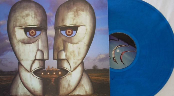 the division bell, blue vinyl record, pink floyd