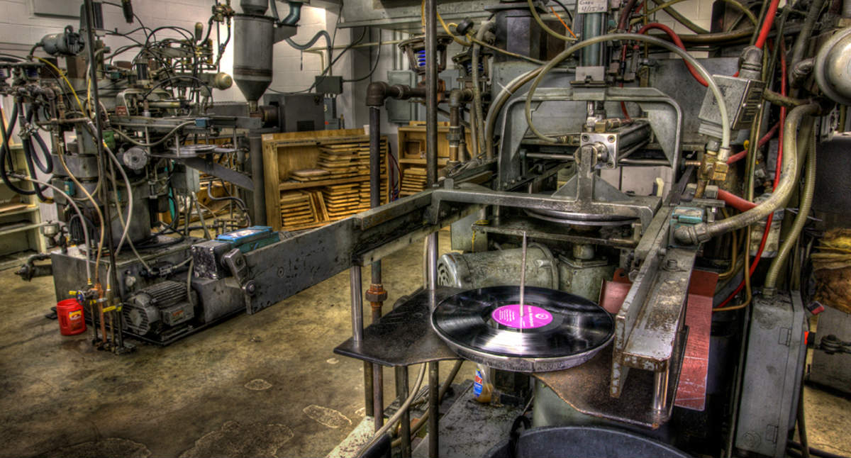 vinyl in a pressing plant