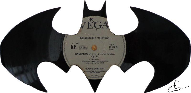 batman, recycled handmade vinyl record art