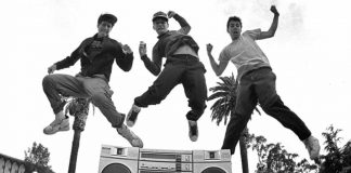 beastie boys jumping in the air