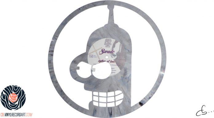handmade vinyl record art by cb... - Bender, Futurama