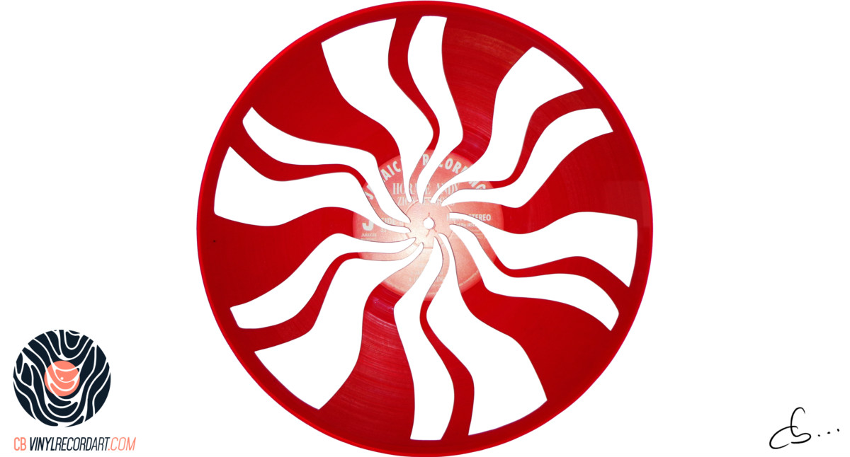 The White Stripes Logo Carved From A Vinyl Record