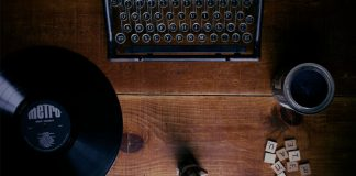 record and typewriter