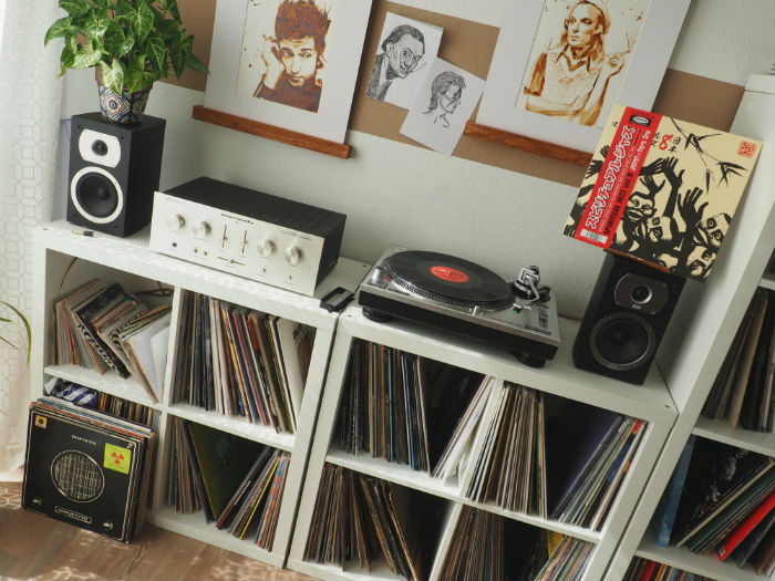 collection de disques vinyles