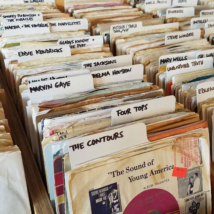 sélection de disques vinyles