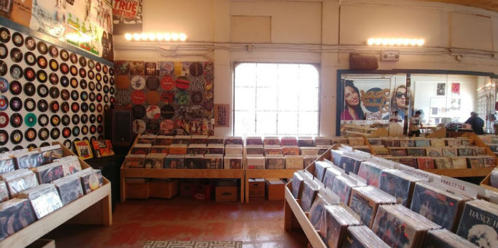 Friends Of Sound Records inside the shop