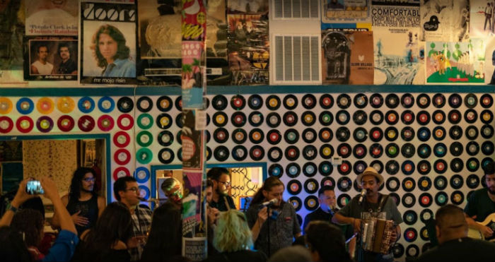 gig at Friends Of Sound Records