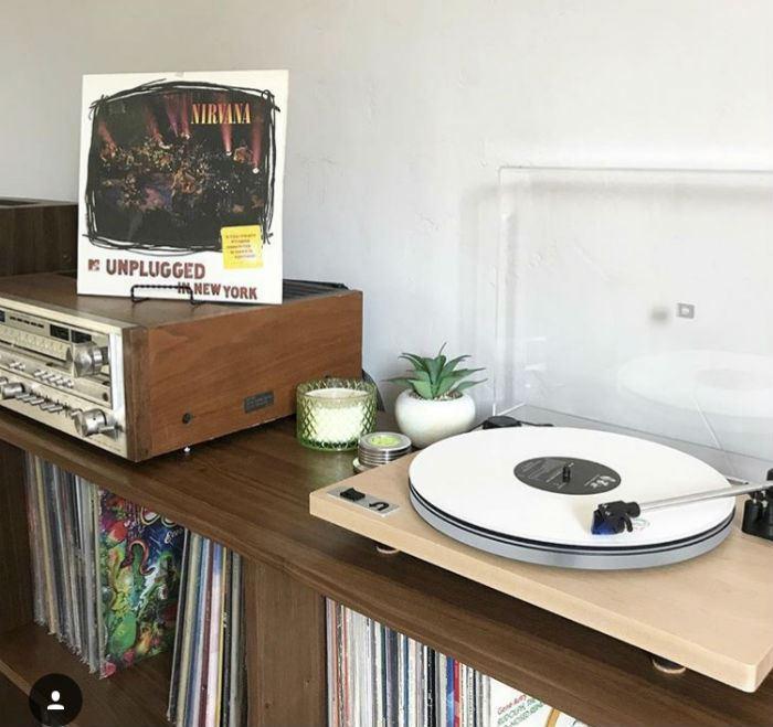 nirvana unplugged on white record