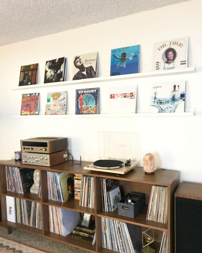 collection vinyl records