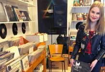 tanja in her record shop