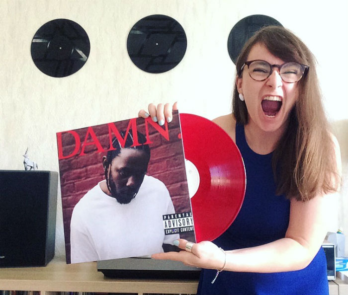 hello vinyl holds an album of damn