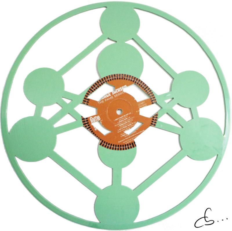 atomium de brussels gravé sur disque vinyle