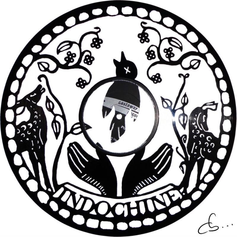 Indochine, Alice et June art gravé sur disque vinyle
