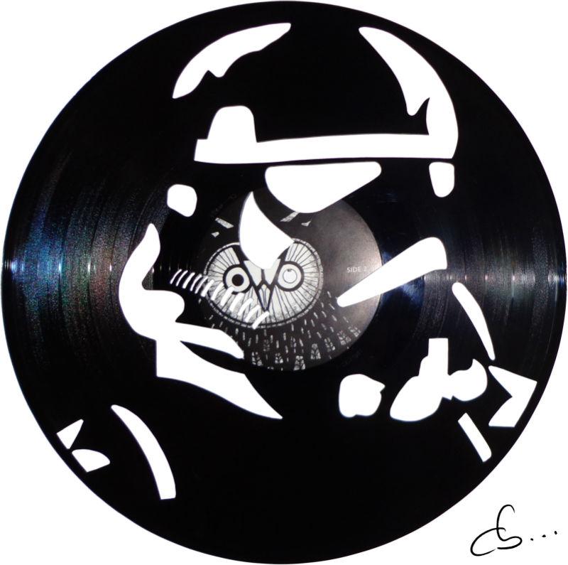 portrait de Stormtrooper, star wars, gravé sur disque vinyle