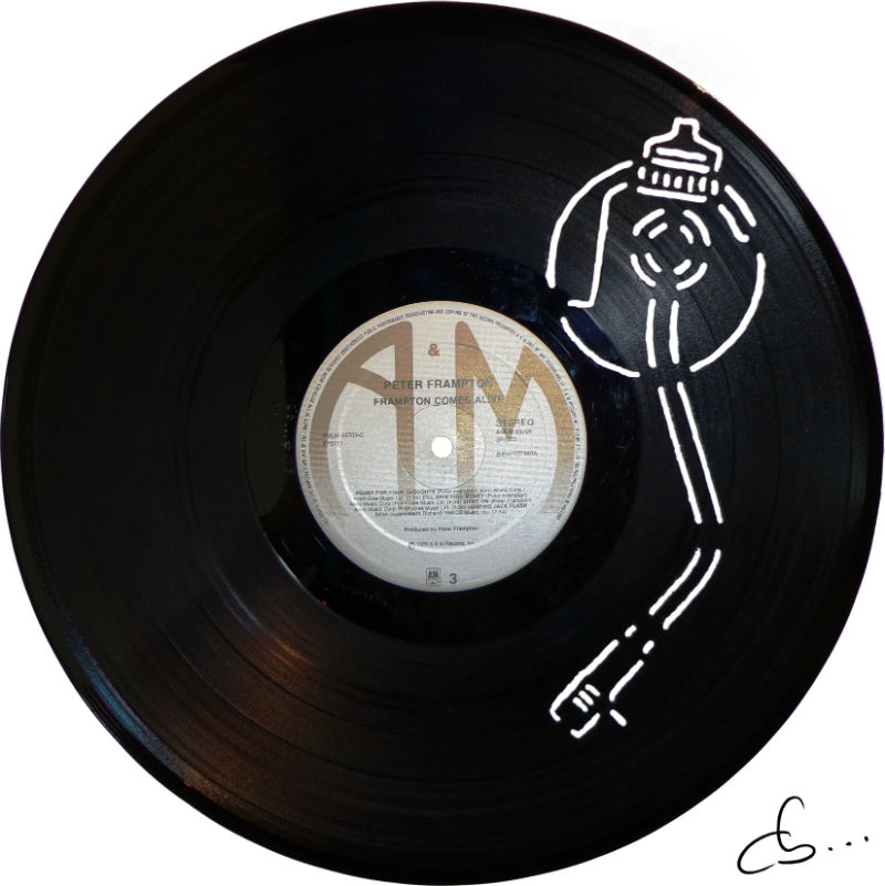 Turntable Arm art from a vinyl record