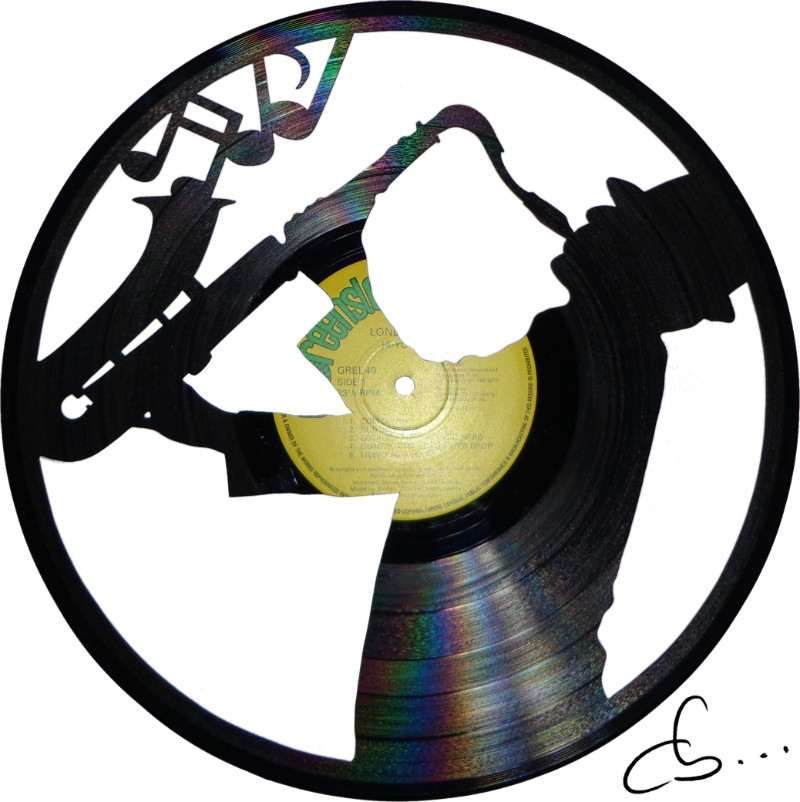 Music Design Made From Scratched Vinyl Records